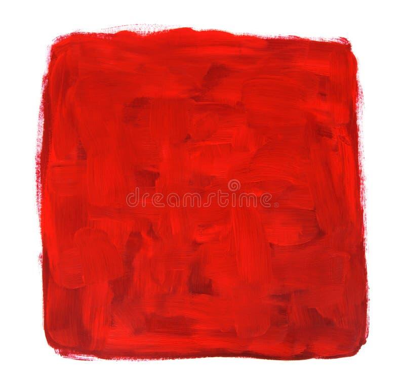 Peinture à l'huile abstraite vibrante fabriquée à la main illustration stock