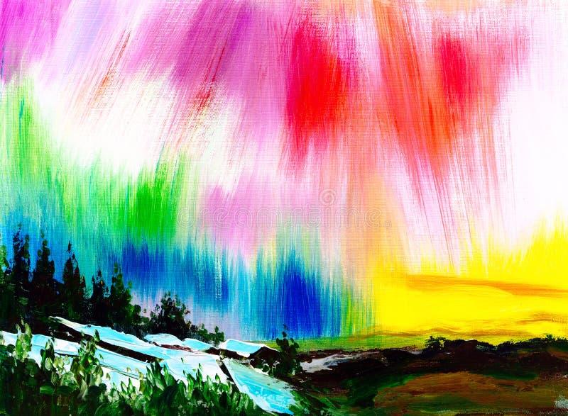 Peinture à l'huile - l'aurore illustration stock