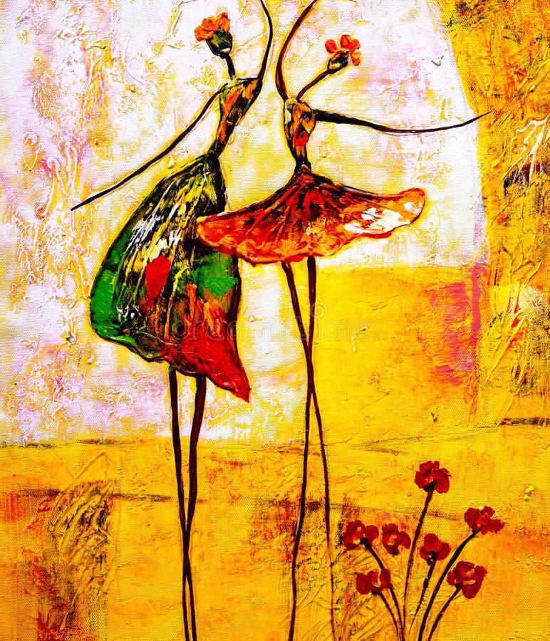 Peinture à l'huile - ballet illustration stock