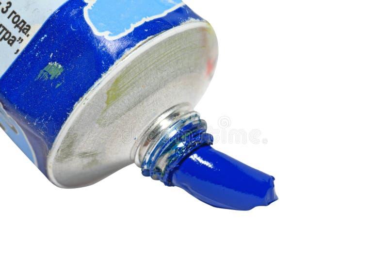Peinture à l'huile bleue photos libres de droits