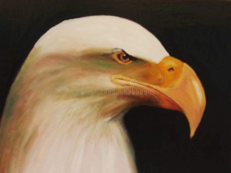 Peinture à l'huile d'un aigle image libre de droits