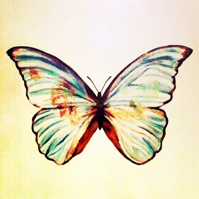 peinture l 39 huile de papillon illustration stock illustration du balai p trole 68845384. Black Bedroom Furniture Sets. Home Design Ideas