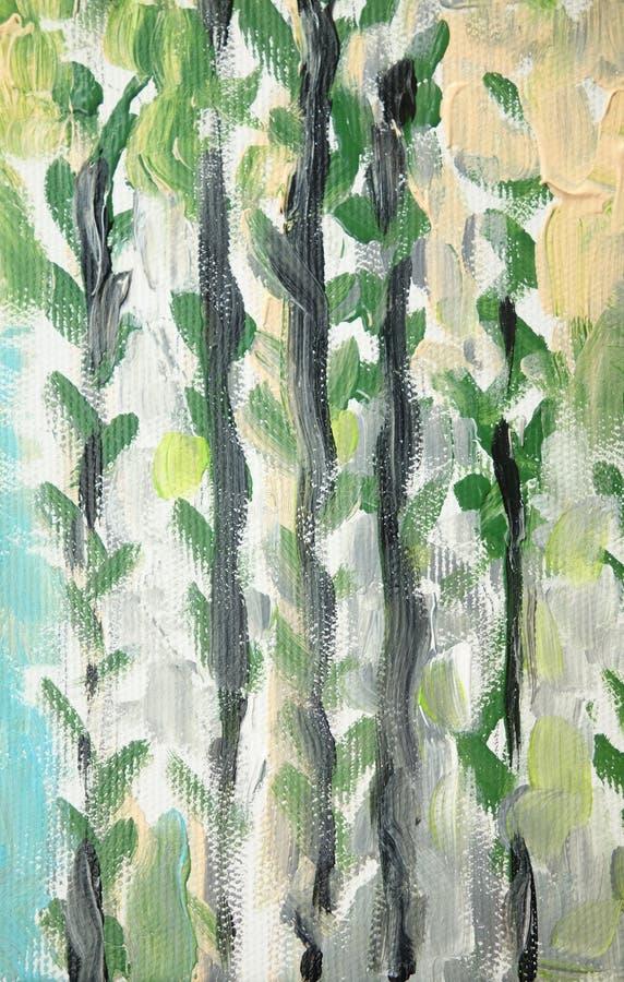 Peinture à l'huile florale de modèle illustration libre de droits