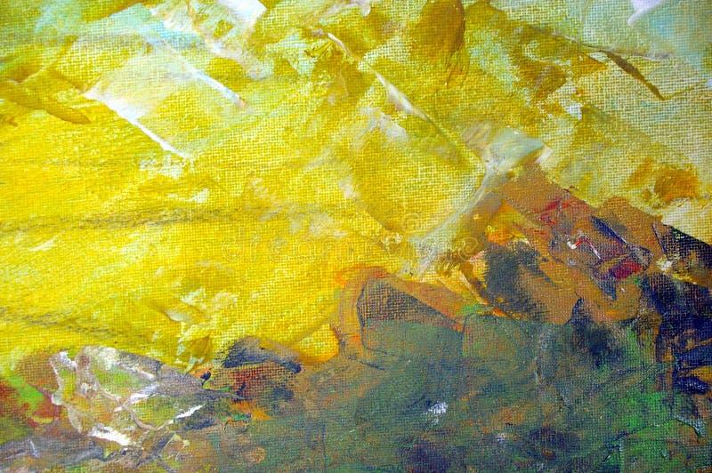Peinture à l'huile initiale illustration libre de droits