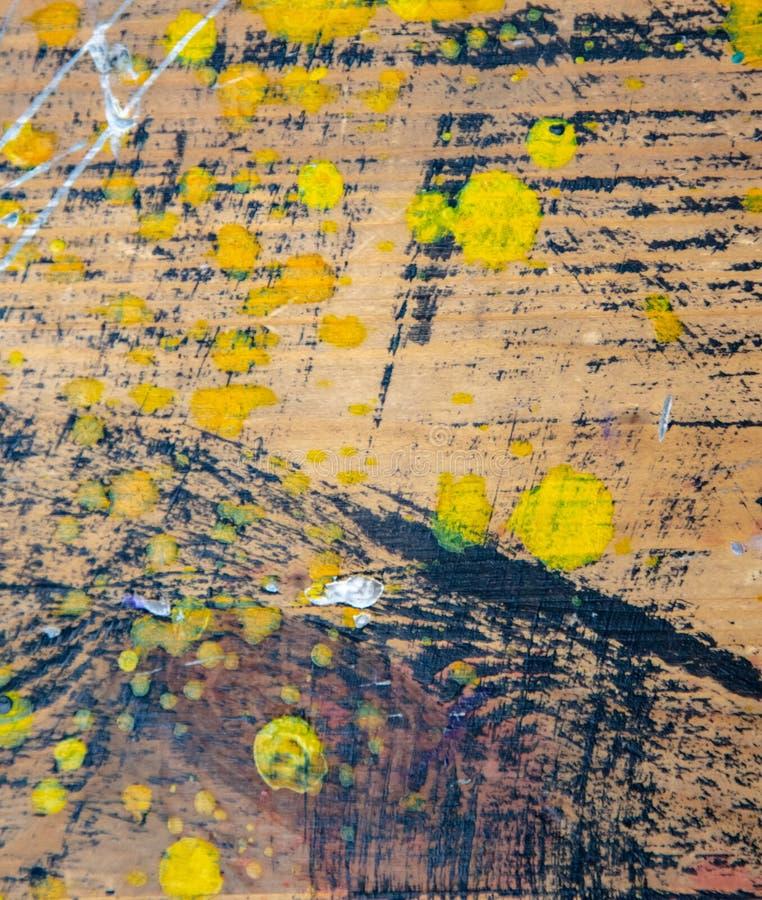 Peinture à l'huile sur la toile en tant que fond abstrait illustration de vecteur