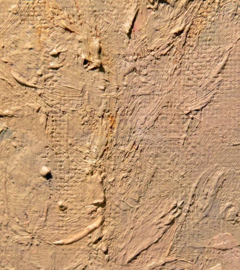 Peinture à l'huile sur la toile en tant que fond abstrait illustration stock