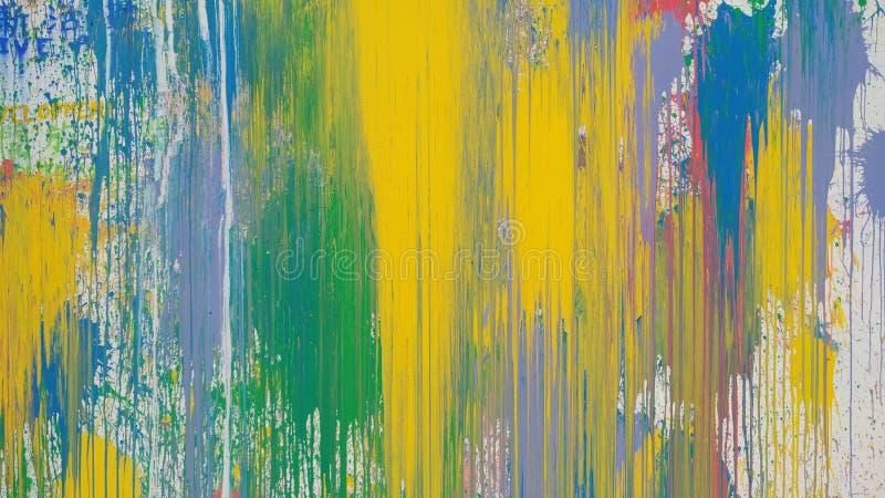 Peinture à l'huile tirée par la main, fond d'art abstrait images stock
