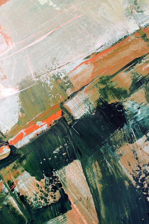 Peinture à l'huile tirée par la main Fond d'art abstrait Peinture à l'huile sur la toile Texture de couleur Fragment d'illustrati image stock
