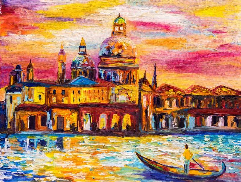 Peinture à l'huile - Venise, Italie illustration stock