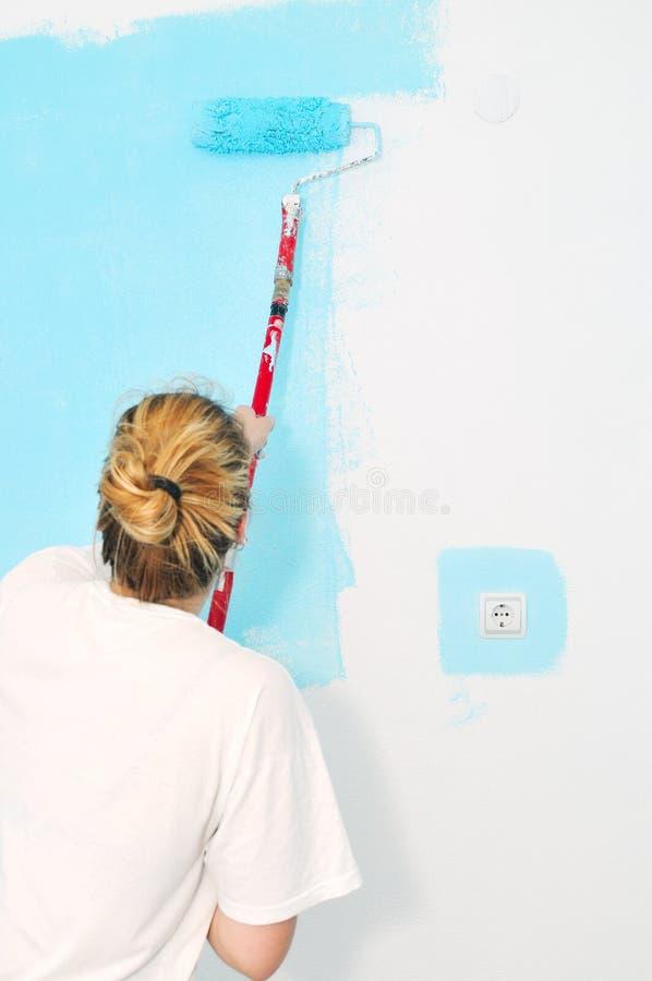 Peinture à la maison image stock