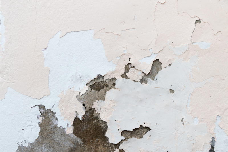 Peinture Ébréchée Sur Un Vieux Mur De Plâtre Photo Stock - Image Du