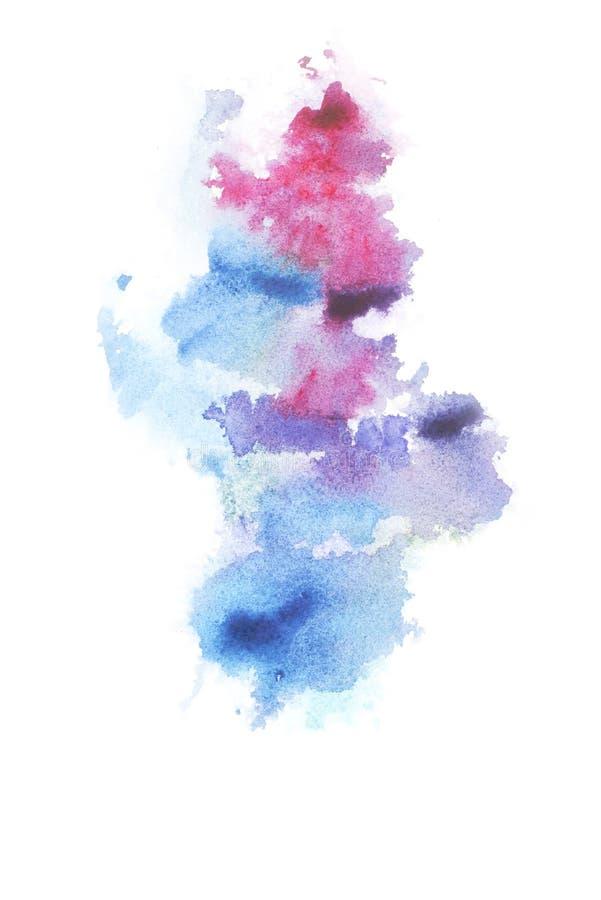Peinture abstraite avec les taches et les taches pour aquarelle colorées lumineuses de peinture photos libres de droits
