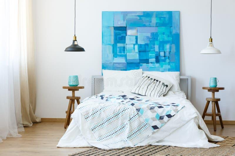 Peinture abstraite bleue image libre de droits