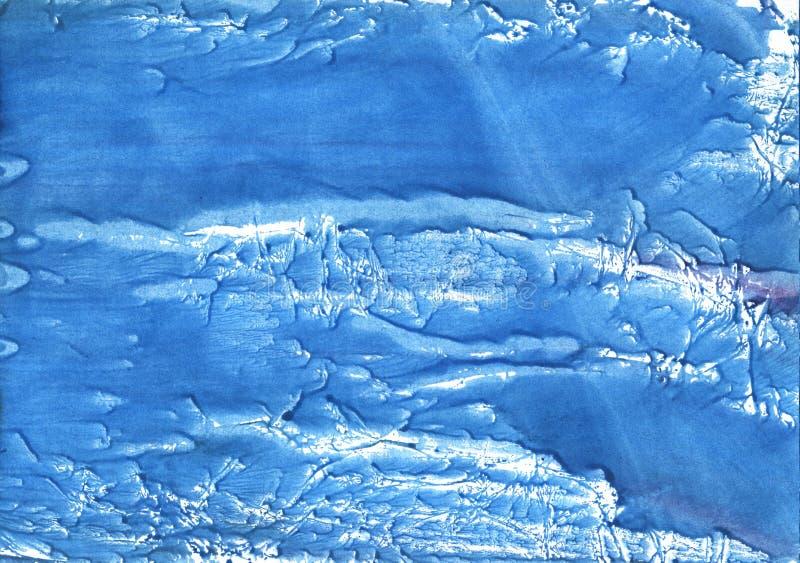 Peinture abstraite bleue d'aquarelle de fleur de maïs illustration libre de droits