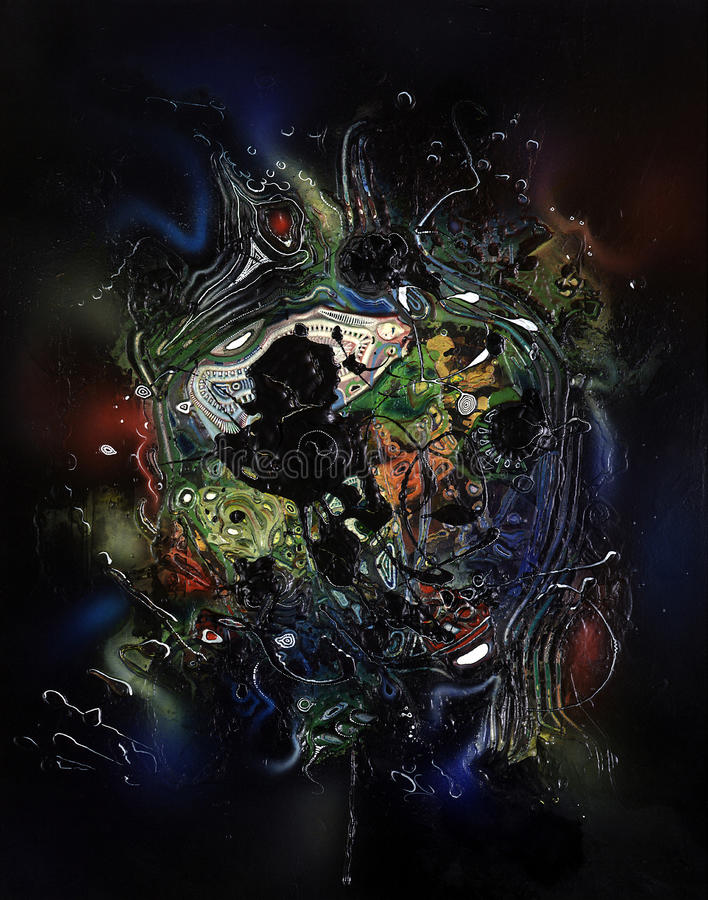 Peinture abstraite colorée illustration stock