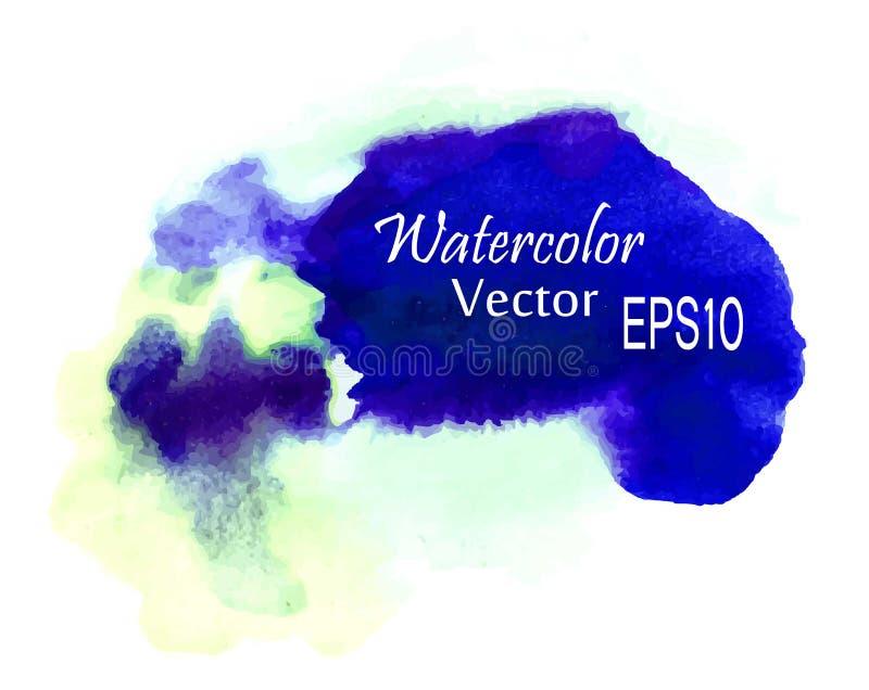 Peinture abstraite colorée de main d'art d'aquarelle sur le fond blanc illustration de vecteur