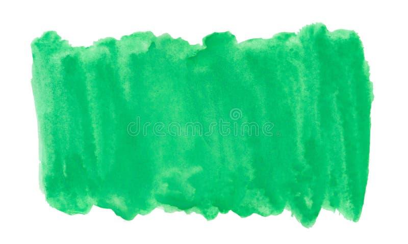 Peinture abstraite d'éclaboussure d'aquarelle d'aquarel de vert d'encre sur le fond blanc illustration libre de droits