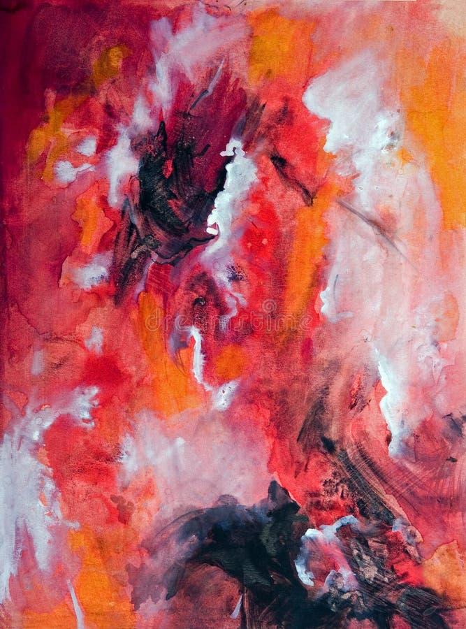Peinture abstraite d'aquarelle illustration de vecteur