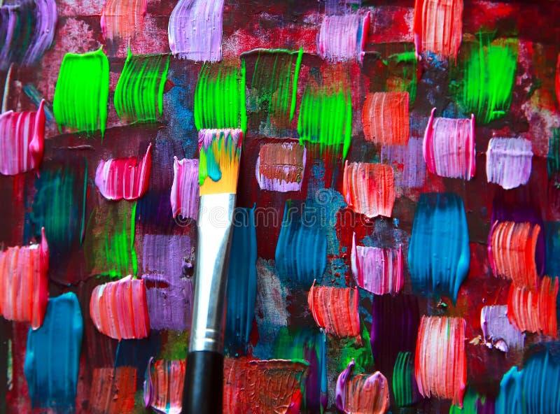 Peinture abstraite d'art illustration de vecteur