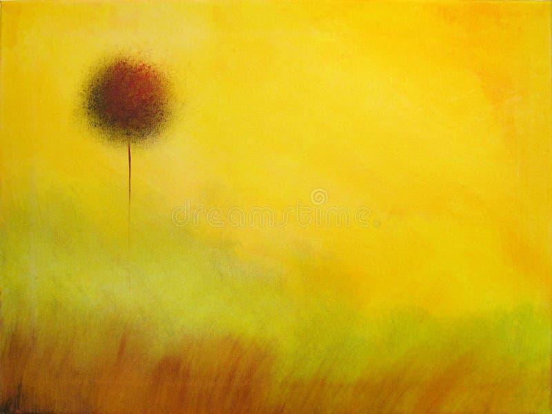 Peinture abstraite d'un arbre illustration de vecteur