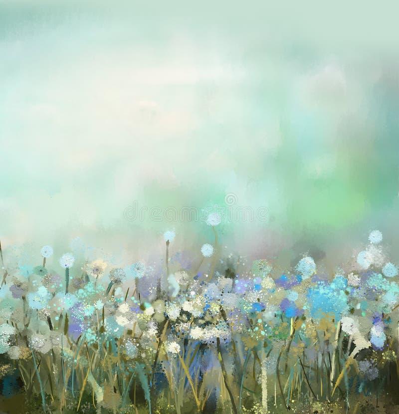 Peinture abstraite d'usine de fleur illustration de vecteur