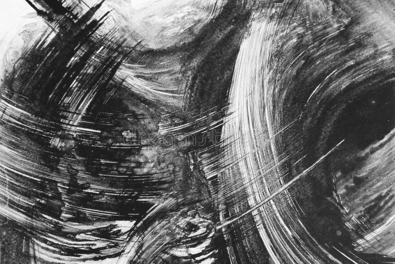 Peinture abstraite de balai illustration libre de droits