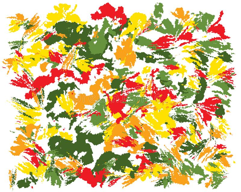Peinture abstraite de brosse d'huile illustration stock