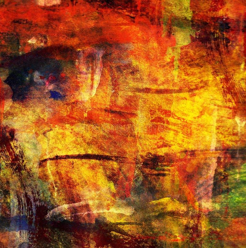 Peinture abstraite de fond illustration de vecteur