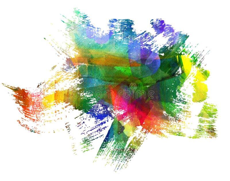 Peinture abstraite de guasch illustration de vecteur