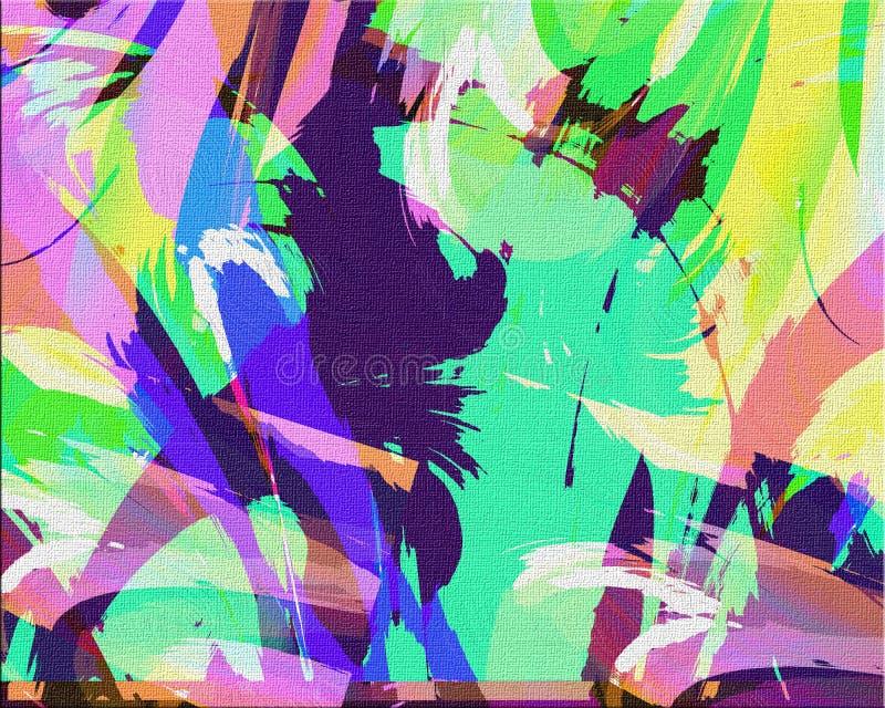 Peinture abstraite de locations illustration libre de droits
