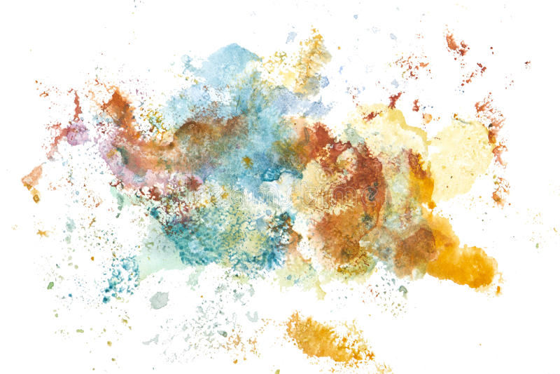 Peinture abstraite de main d'art d'aquarelle Fond image libre de droits