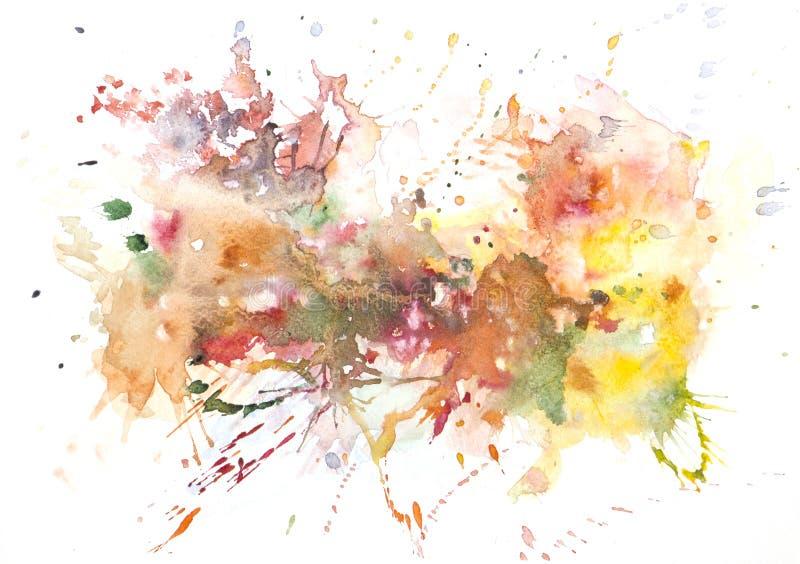 Peinture abstraite de main d'art d'aquarelle Fond illustration de vecteur