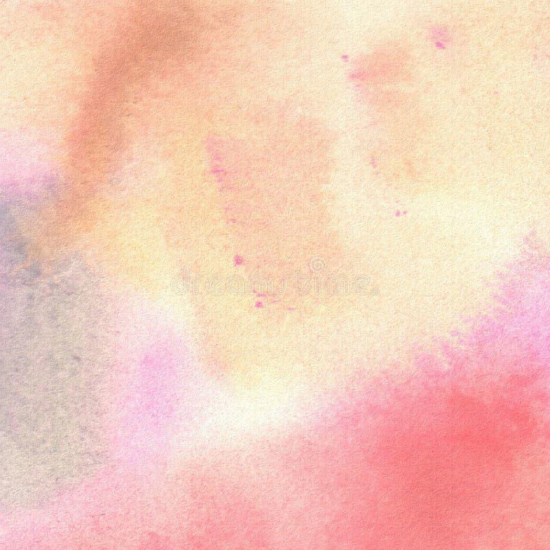 Peinture abstraite de main d'art d'aquarelle texture d'aquarelle Taches de gouache, taches, taches illustration de vecteur