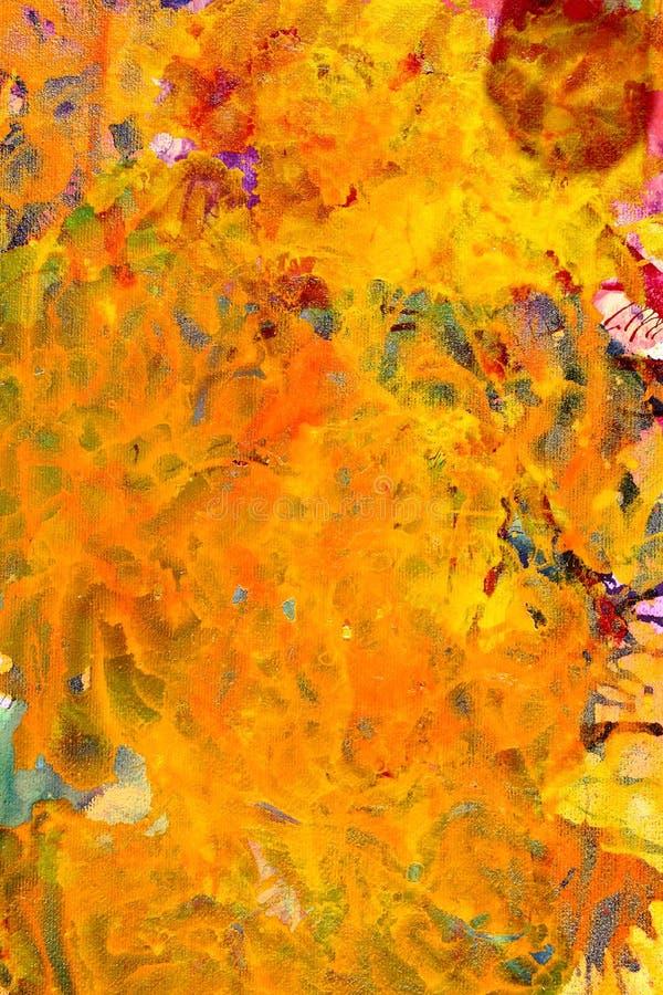 Peinture abstraite jaune photos libres de droits