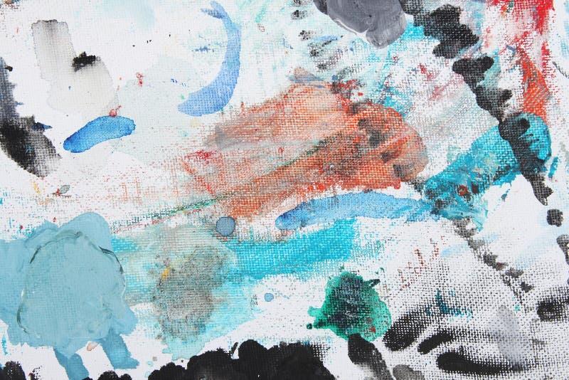 Peinture abstraite multicolore de balai illustration stock