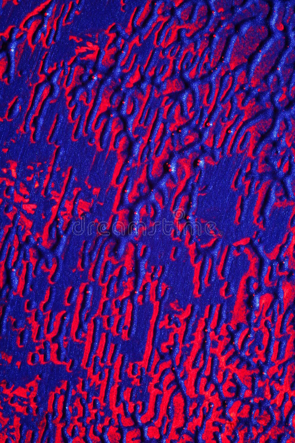 Peinture abstraite rouge et bleue images stock