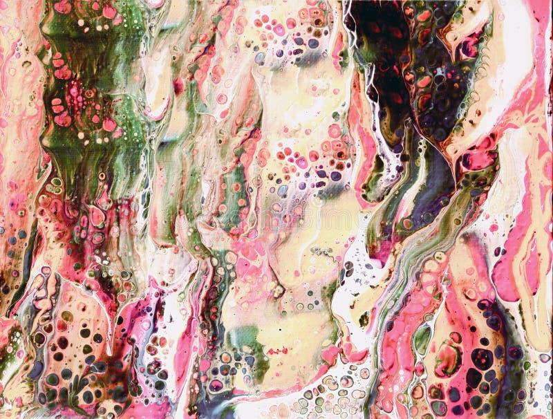 Peinture acrylique abstraite avec des cellules de couleur illustration libre de droits