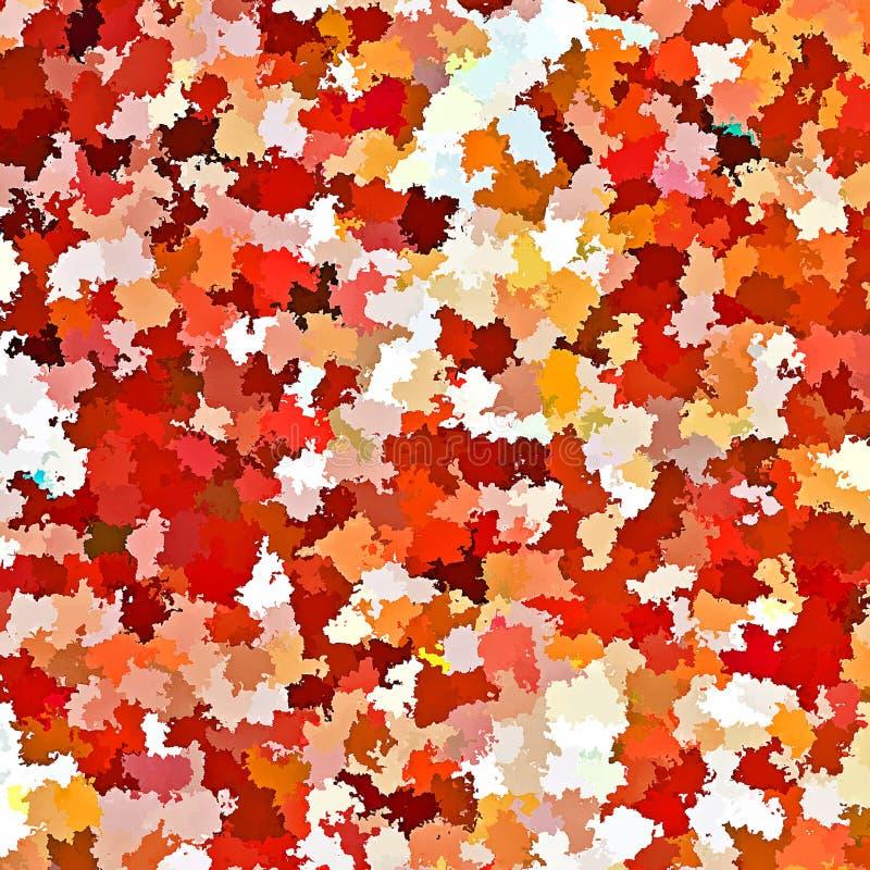 Peinture acrylique de brosse d'éclaboussure de couleur d'eau d'abrégé sur peinture de Digital en Autumn Leaves Pastel Colors Back illustration libre de droits