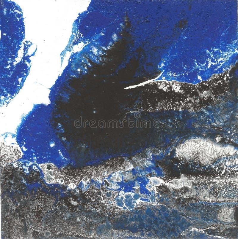 Peinture acrylique liquide, illustration liquide, fond coloré abstrait avec les cellules peintes colorées, taches Rétros couleurs photo stock