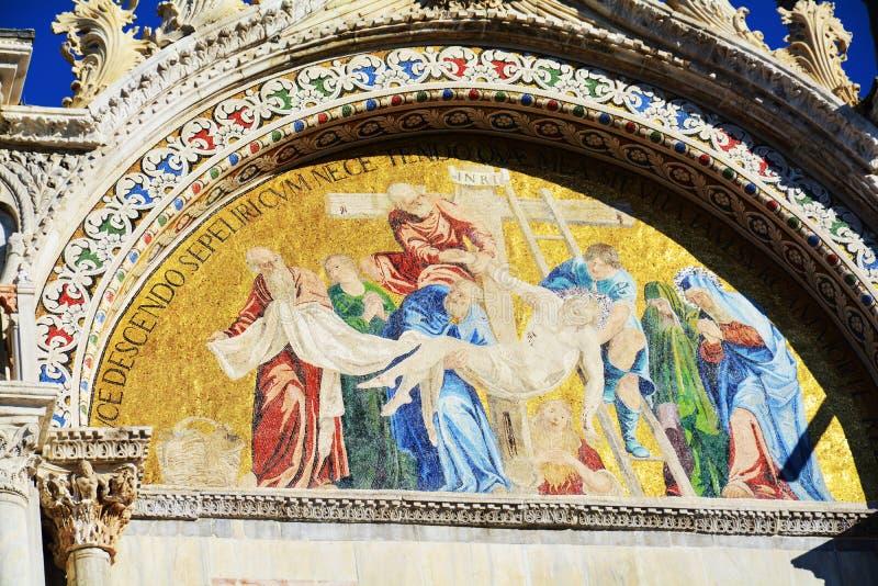 Peinture bizantine de basilique du ` s de St Mark, Venise, Italie photos libres de droits