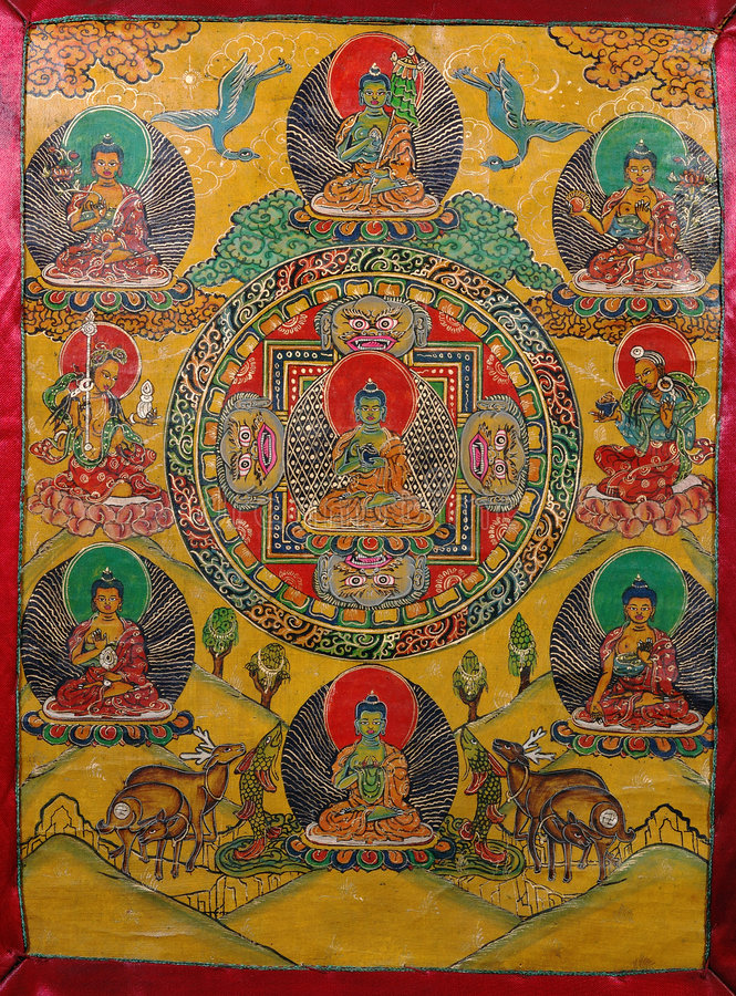 Peinture bouddhiste image stock. Image du peinture ...