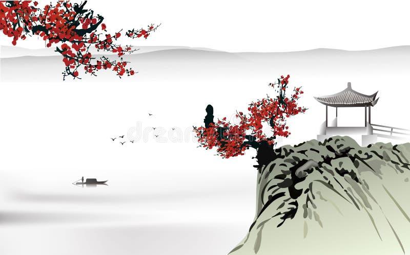 Peinture chinoise illustration de vecteur