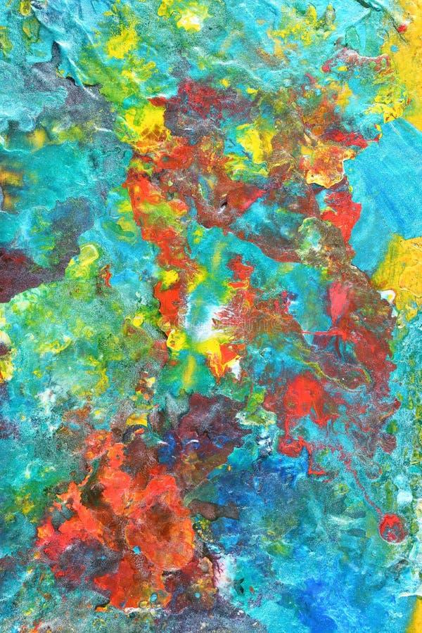 Peinture colorée abstraite images libres de droits