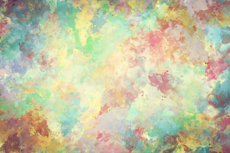 Peinture colorée d'aquarelle sur la toile Haute résolution et fond superbes de qualité illustration de vecteur