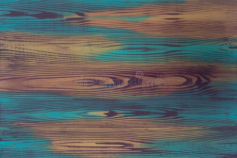 Peinture colorée d'illusion de plat peint à la main, trompe - l ' oeil, avec l'imitation créative du grain en bois, conseil en bo photographie stock libre de droits
