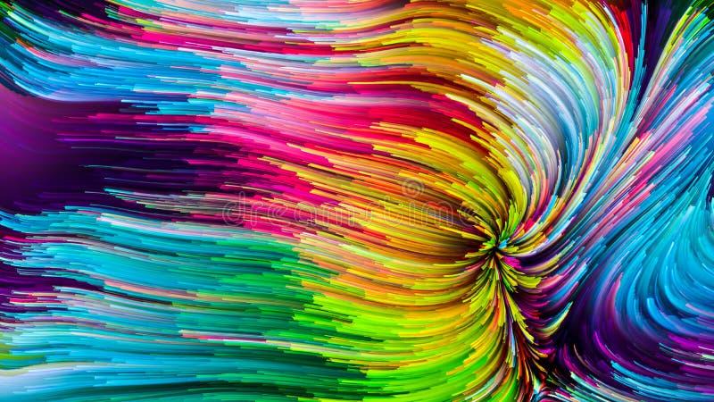 Peinture colorée virtuelle photographie stock libre de droits