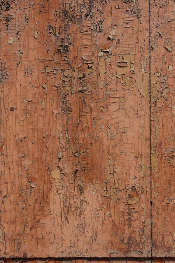 Peinture criquée sur la texture en bois de fond photographie stock