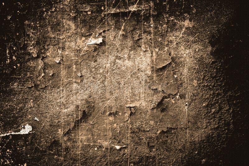 Peinture criquée sur le mur photographie stock