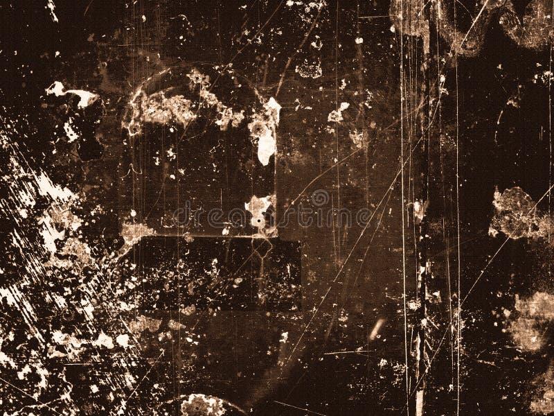 peinture criquée sur le mur en métal images stock