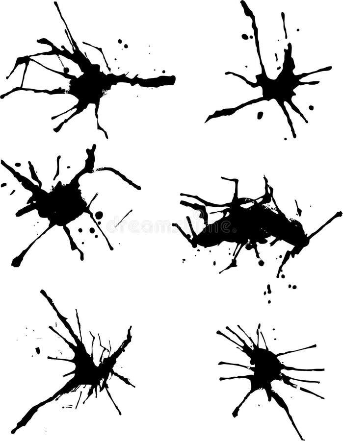 Peinture d'éclaboussure illustration libre de droits
